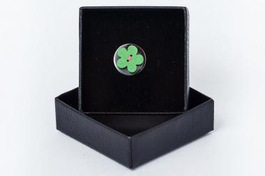 Kitûzõ - virág zöld 1810-AEPPP043