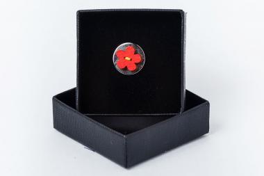 Kitûzõ - virág piros 1810-AEPPP046