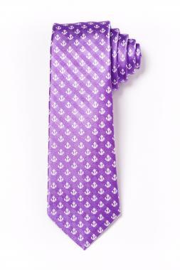 Gyerek nyakkendõ - lila horgonymintás 2011-29